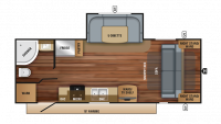 2018 Jay Feather 23RBM Floor Plan