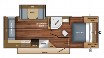 2018 Jay Feather 23RL Floor Plan Img
