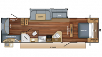 2018 Jay Feather 29QB Floor Plan