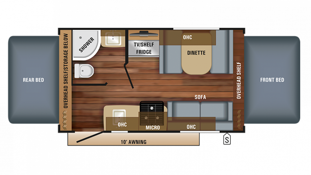 2018 Jay Feather X17Z Floor Plan Img