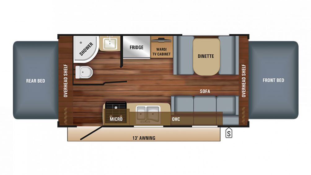 2018 Jay Feather X19H Floor Plan Img
