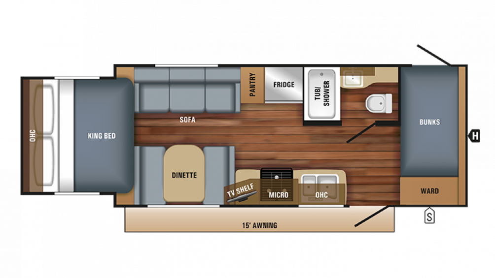 2018 Jay Feather X213 Floor Plan Img