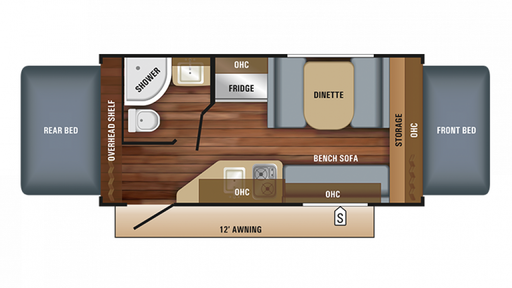 2018 Jay Feather 7 16XRB Floor Plan Img