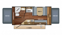 2018 Jay Feather 7 16XRB Floor Plan