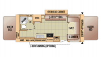 2010 Jay Feather EXP 23B Floor Plan