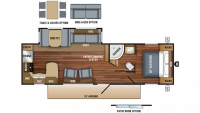 2018 Jay Flight 29RKS Floor Plan