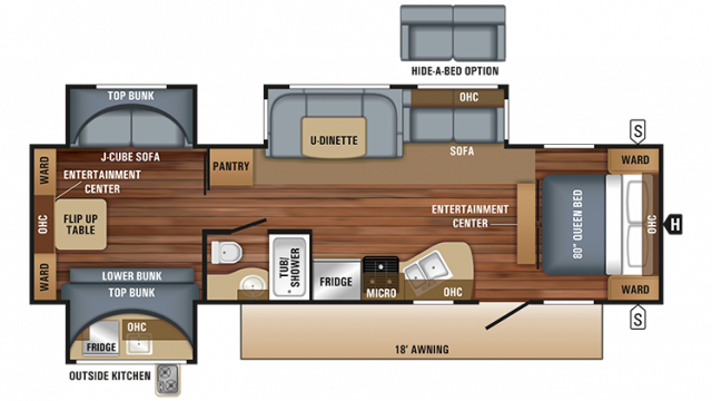 2018 Jay Flight 32TSBH Floor Plan