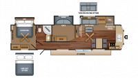 2018 Jay Flight Bungalow 40BHTS Floor Plan