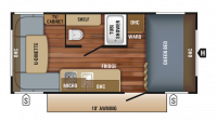 2018 Jay Flight SLX 175RD Floor Plan