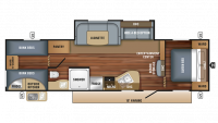 2018 Jay Flight SLX 294QBS Floor Plan