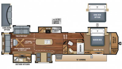 2018 North Point 361RSFS Floor Plan Img
