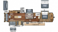 2018 North Point 377RLBH Floor Plan