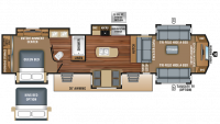 2018 North Point 381FLWS Floor Plan