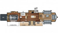2018 North Point 385THWS Floor Plan