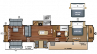 2018 North Point 387RDFS Floor Plan