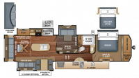 2018 Pinnacle 37MDQS Floor Plan