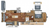 2018 Pinnacle 37RSTS Floor Plan