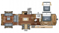 2018 Pinnacle 38REFS Floor Plan