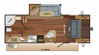 2018 White Hawk 23MRB Floor Plan