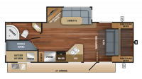 2018 White Hawk 24MBH Floor Plan