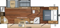 2018 White Hawk 26RK Floor Plan