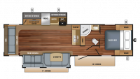 2018 White Hawk 31RL Floor Plan