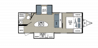 2016 Kodiak Ultra Lite 253RBSL Floor Plan