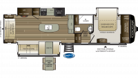 2019 Cougar 362RKS Floor Plan