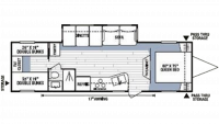 2008 Spree LX 324BHS Floor Plan