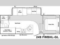 2005 Springdale Clearwater Edition 249BH Floor Plan