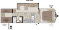 2012 Cougar Xlite 29RBK Floor Plan