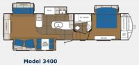 2013 Sanibel 3400 Floor Plan