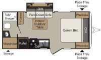 2015 Passport 199ML Floor Plan