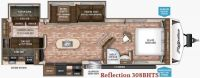 2017 Reflection 308BHTS Floor Plan