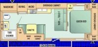 2009 Jay Flight 22FB Floor Plan