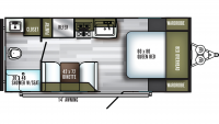 2019 SolAire Ultra Lite 202RB Floor Plan