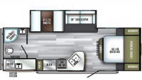 2019 SolAire Ultra Lite 251RBSS Floor Plan