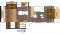 2016 Tracer Ultra Lite 2850 Floor Plan