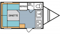 2019 Mt. McKinley 158 Floor Plan