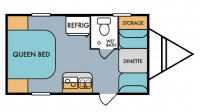 2018 Throwback 177SE Floor Plan