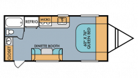 2018 Throwback 189R Floor Plan