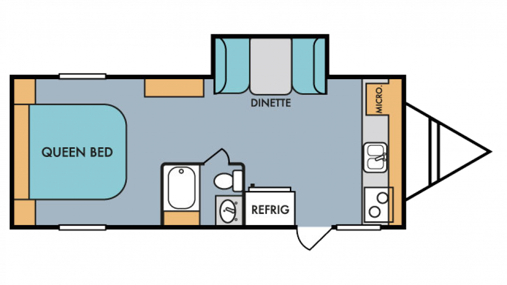 2018 Throwback 199FK Floor Plan Img