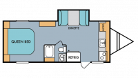 2018 Throwback 199FK Floor Plan