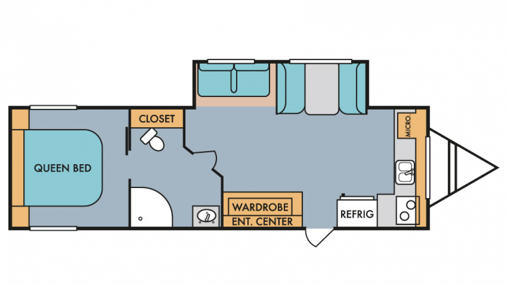 2018 Throwback 285FK Floor Plan Img