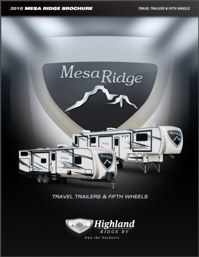 2019 Highland Ridge Mesa Ridge RV Brochure Cover