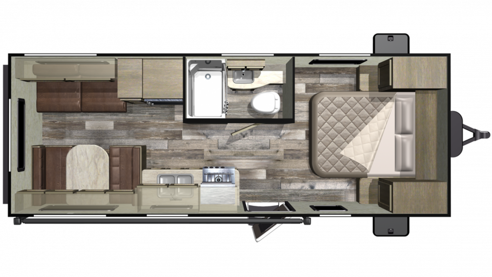 2019 Mossy Oak 21FB Floor Plan Img