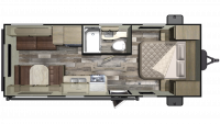 2019 Mossy Oak 21FB Floor Plan