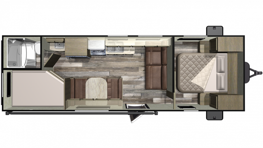 2019 Mossy Oak 26BH Floor Plan Img