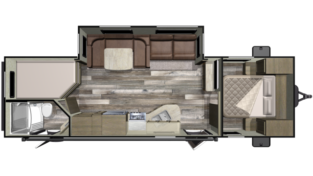 2019 Mossy Oak 27BHS Floor Plan