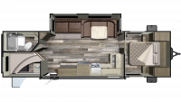 2019 Mossy Oak 282BH Floor Plan